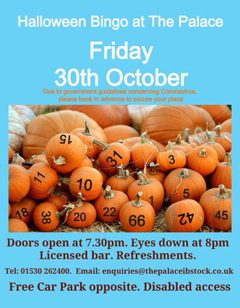 Halloween Bingo at The Palace at The Palace Ibstock