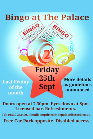 Bingo at The Palace at The Palace Ibstock